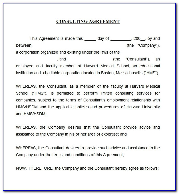 Consultancy Agreement Template Uk Free