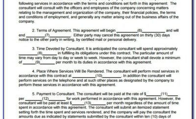Consultancy Contract Template Singapore