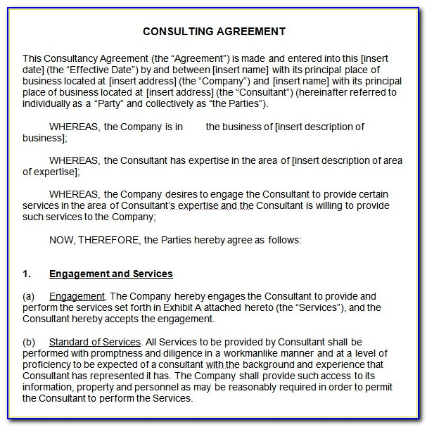 Consultancy Contract Template Word
