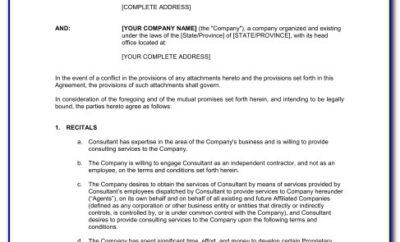 Consultant Agreement Format India