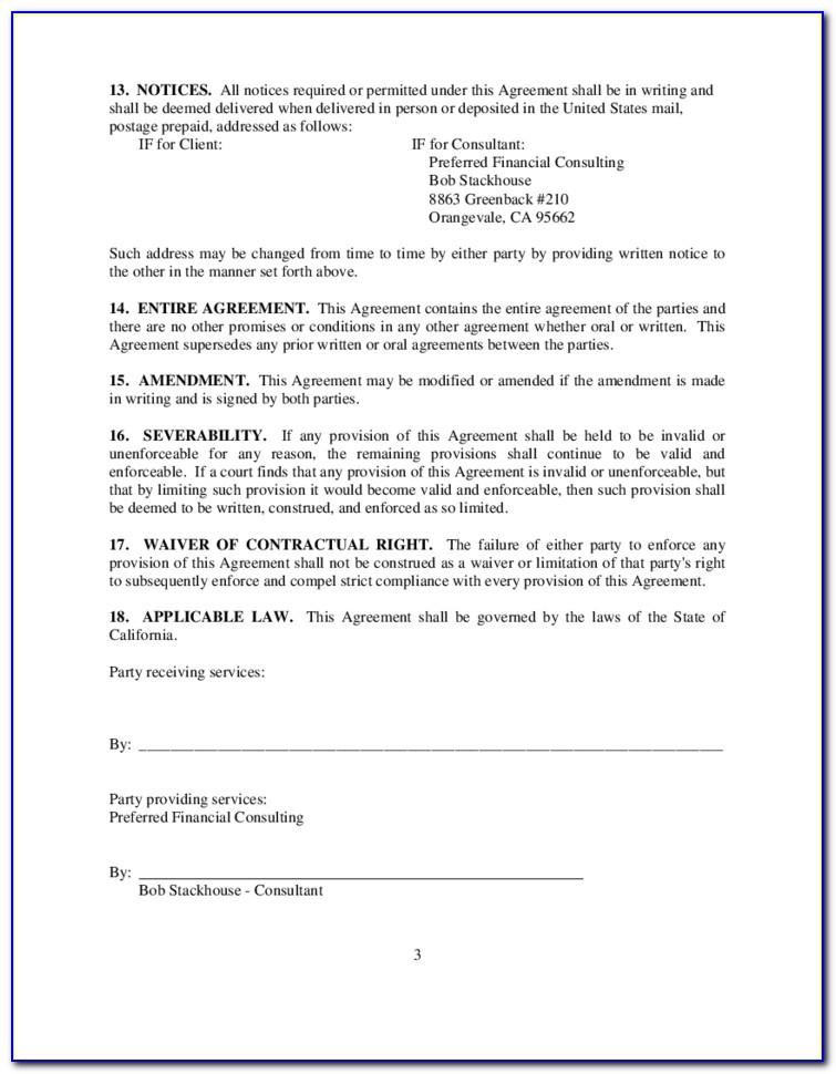 Consultant Retainer Agreement Sample