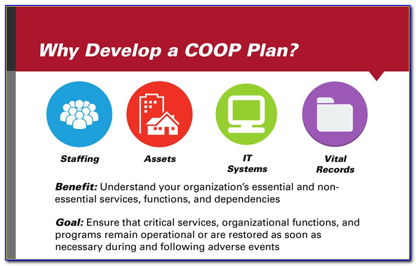 Continuity Of Operations Plan Template Hospital