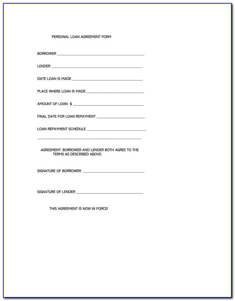 Contract For Lending Money Templates Uk