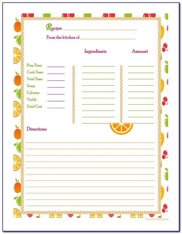 Cookbook Template Apple Pages