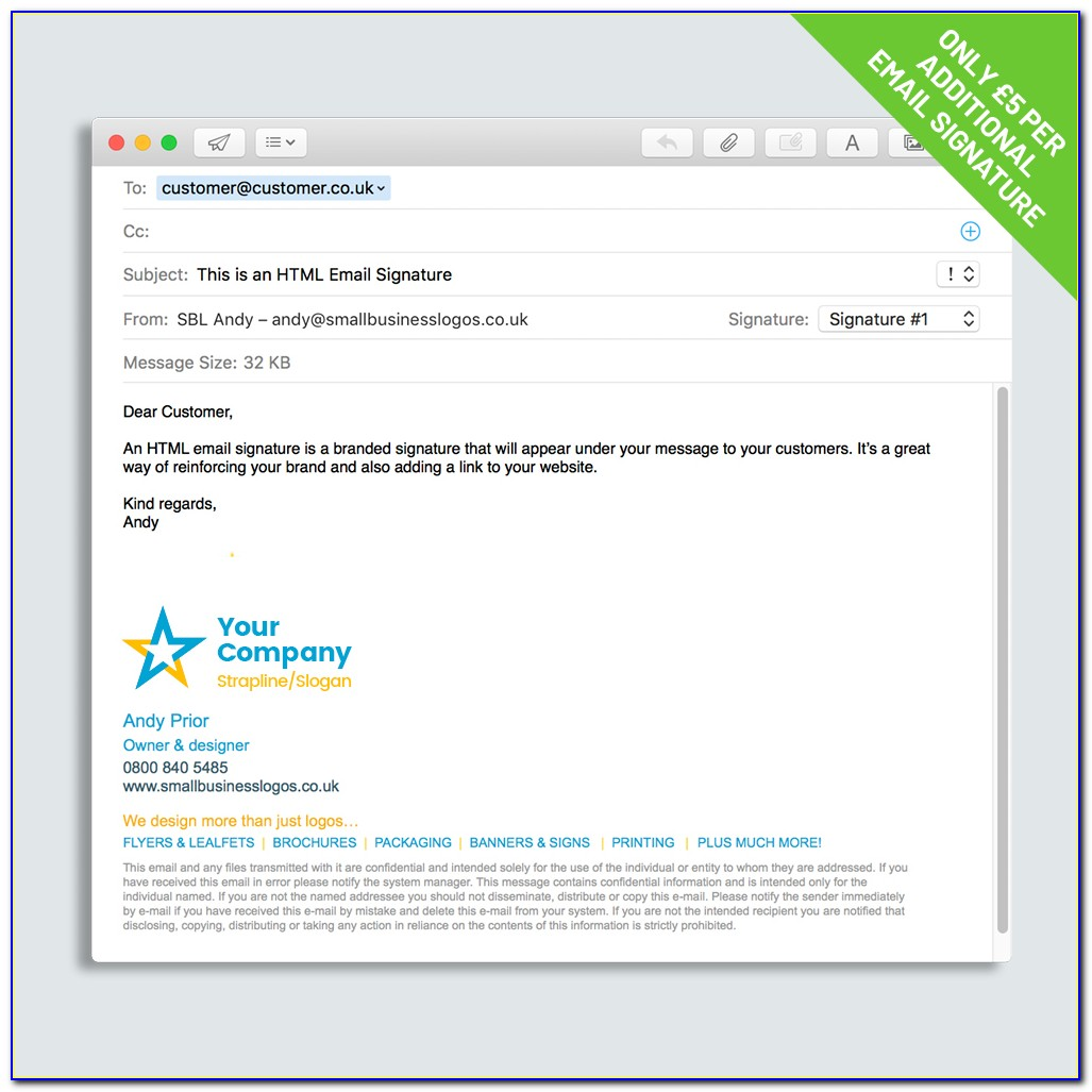 Cool Email Signature Template