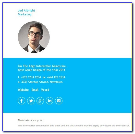 Cool Email Signature Templates Outlook