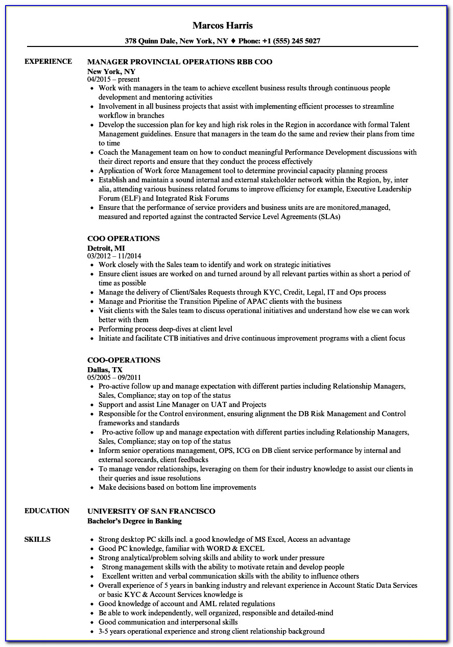 Cool Resume Template Word