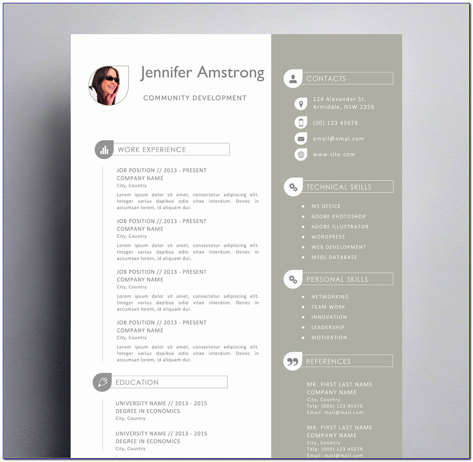 Cool Resume Templates For Mac