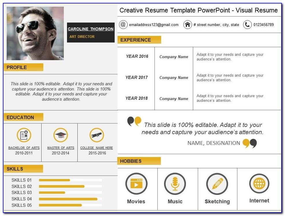 Creative Resume Templates Ppt
