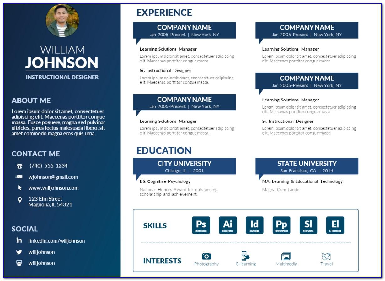 Creative Resume Templates Psd