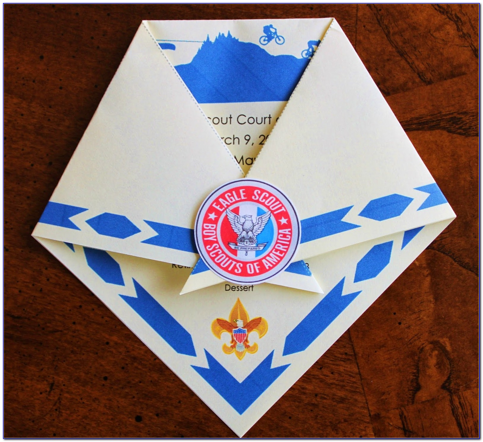 Cub Scout Blue And Gold Program Template