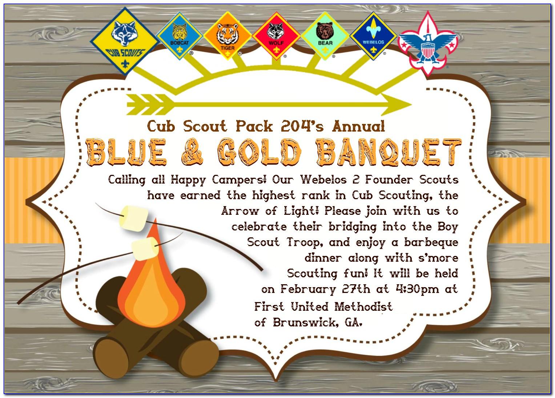 Cub Scout Invitation Templates