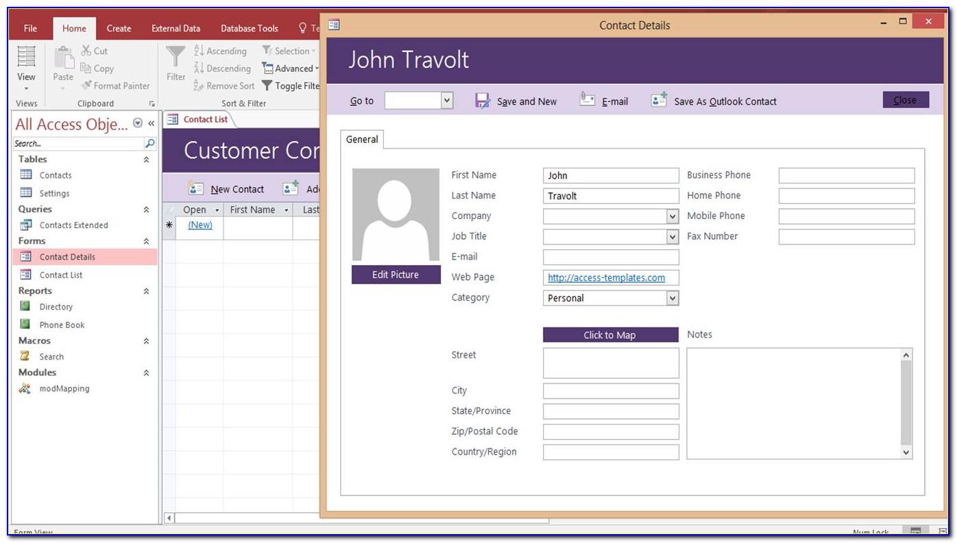 Customer Database Sample Excel