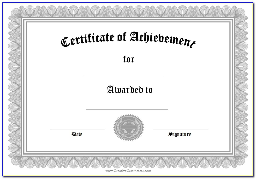 Customizable Achievement Awards Templates