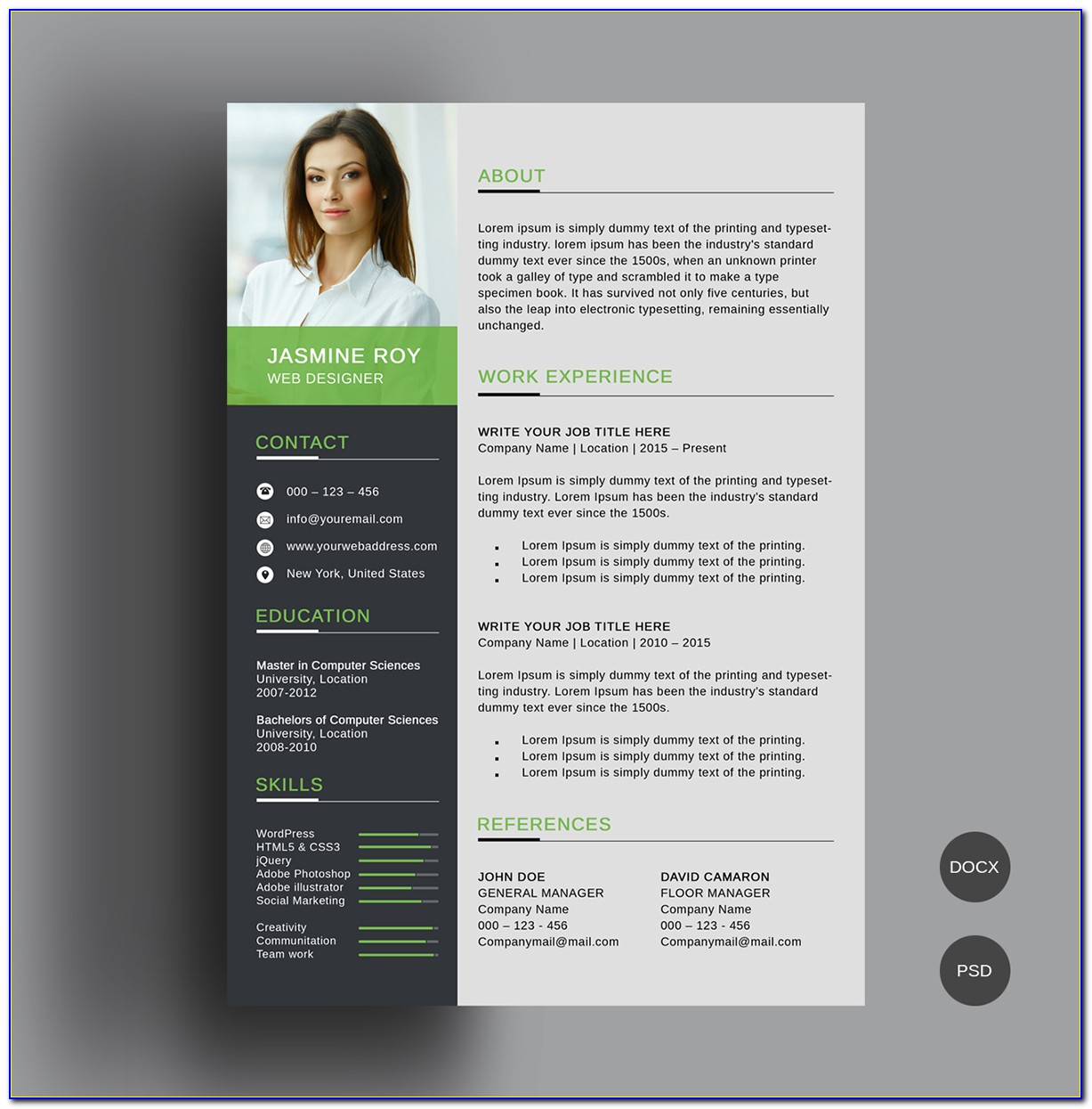 Cv Template Free Download Word 2018