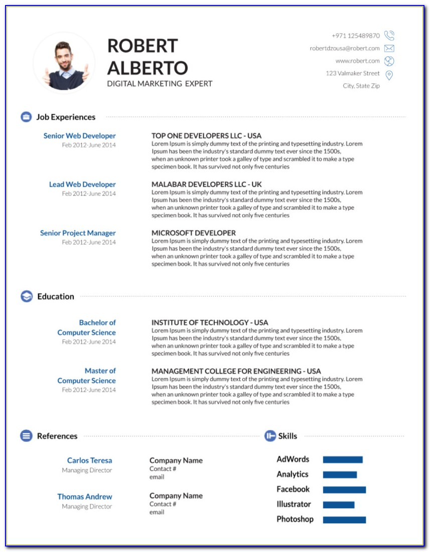 Cv Template Physician Assistant
