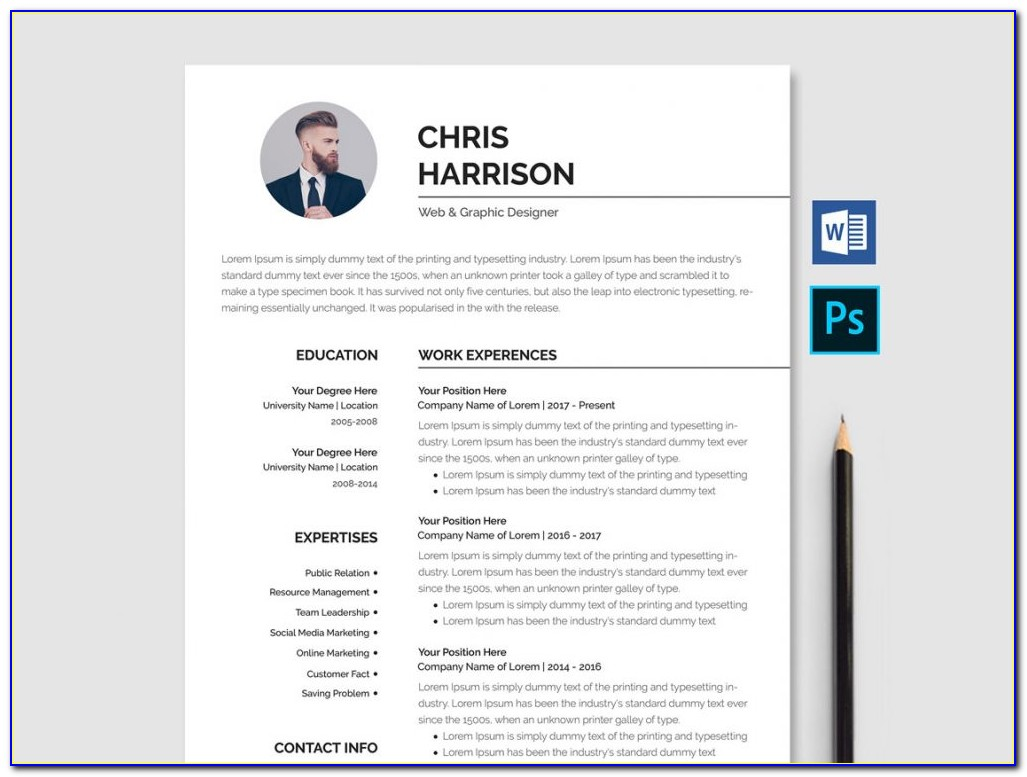 Cv Templates Free Download Word Document 2018