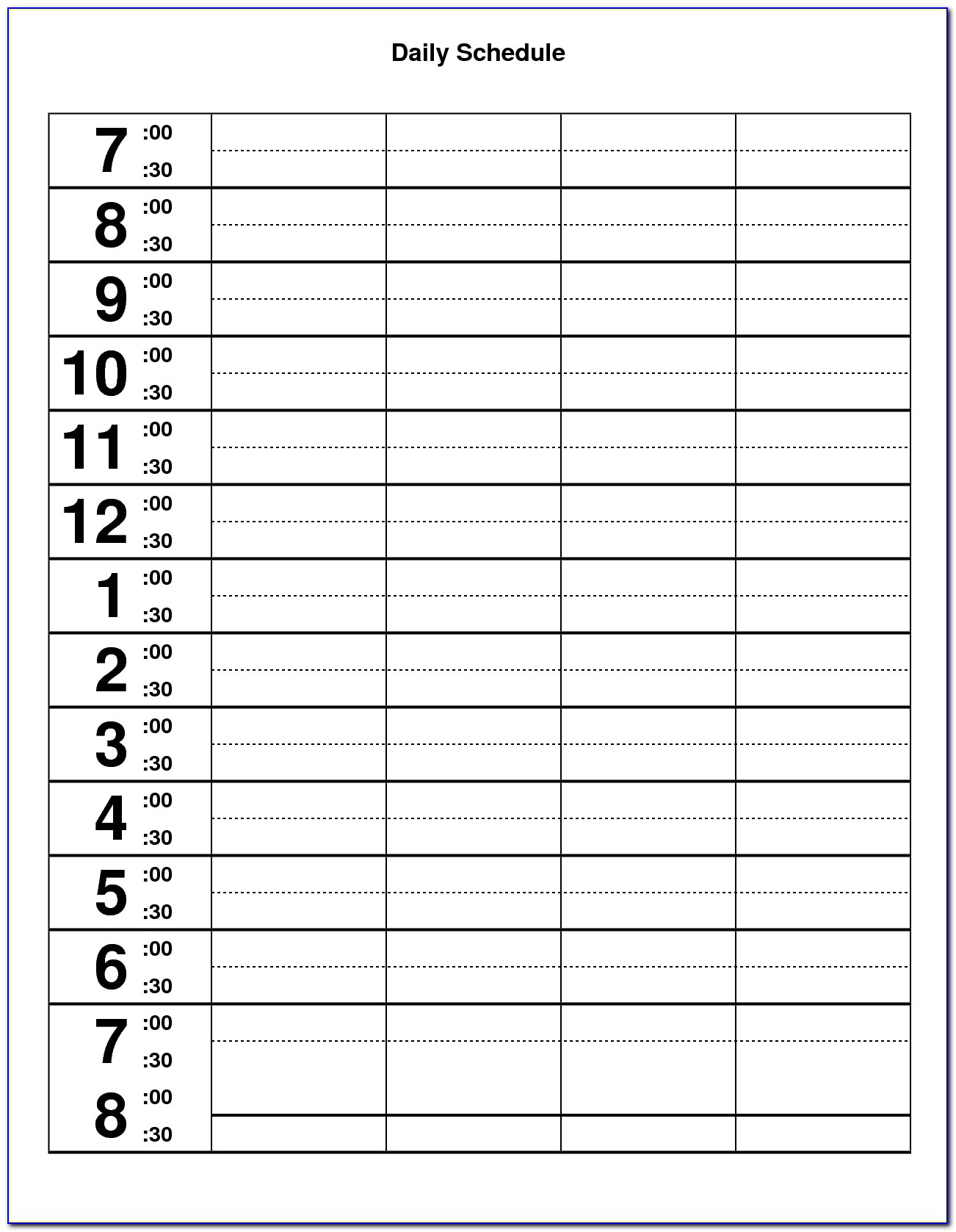 Daily Appointment Book Template Excel