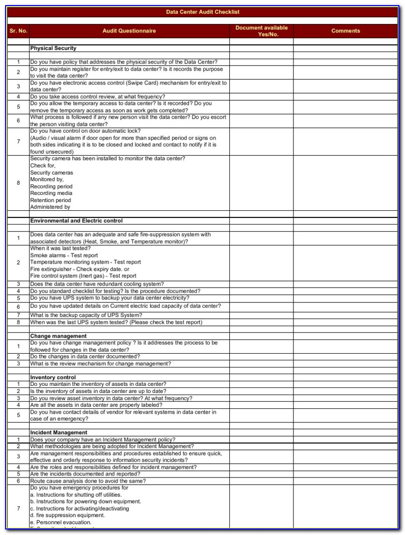 Data Center Migration Project Plan Template