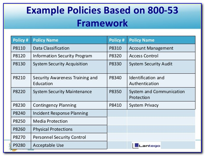 Data Classification Policy Template Gdpr