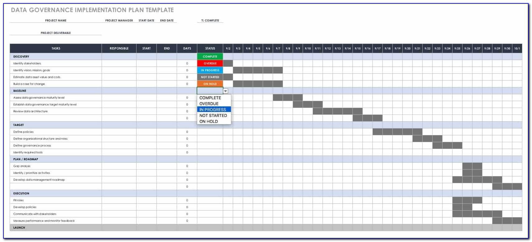 Data Governance Plan Sample