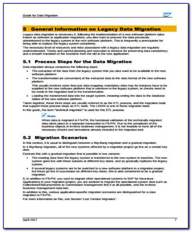 Data Migration Project Schedule Template