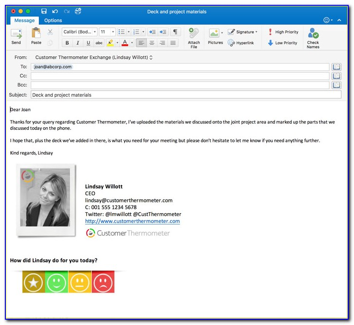 Email Signature Template Outlook 365