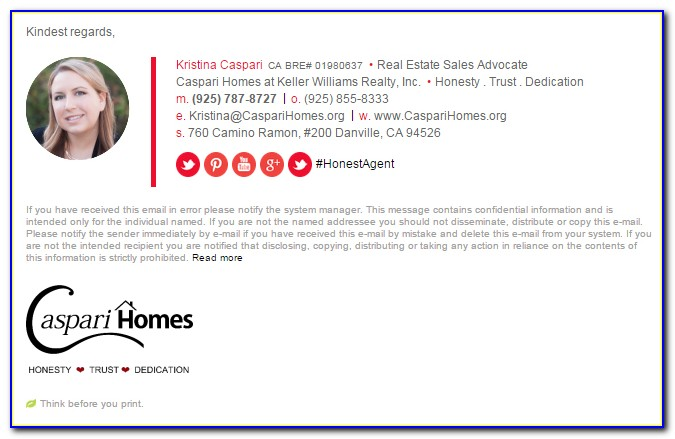 Email Signature Templates Outlook 2013