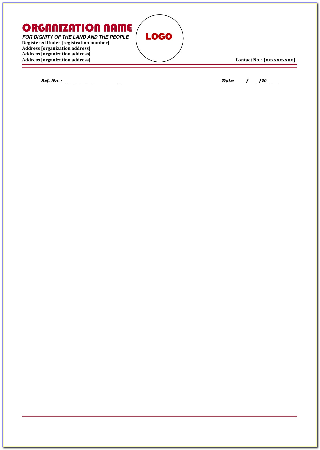 Free Business Letterhead Templates Microsoft Word