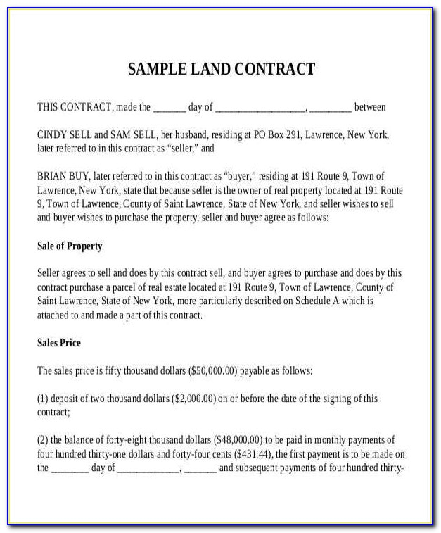 Free Contract For Deed Template Montana