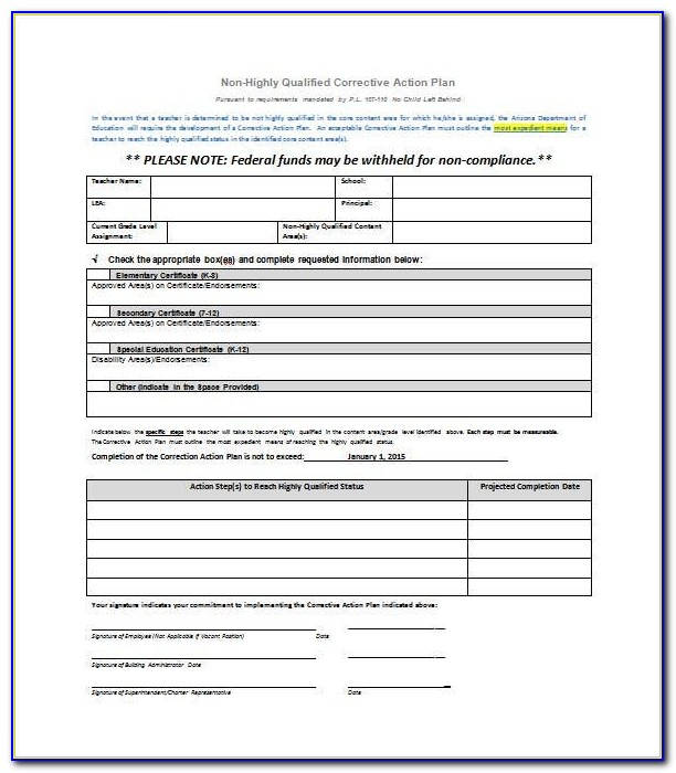 Iso Corrective Action Report Sample