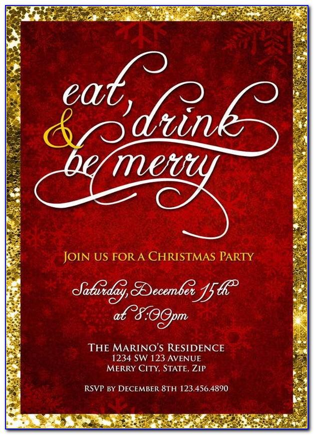Office Christmas Dinner Invitation Template