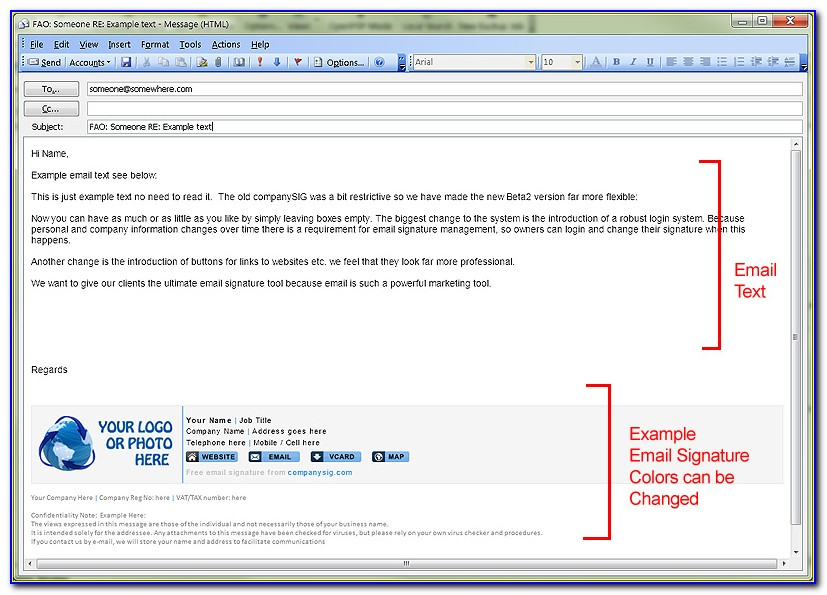 Professional Email Signature Formats