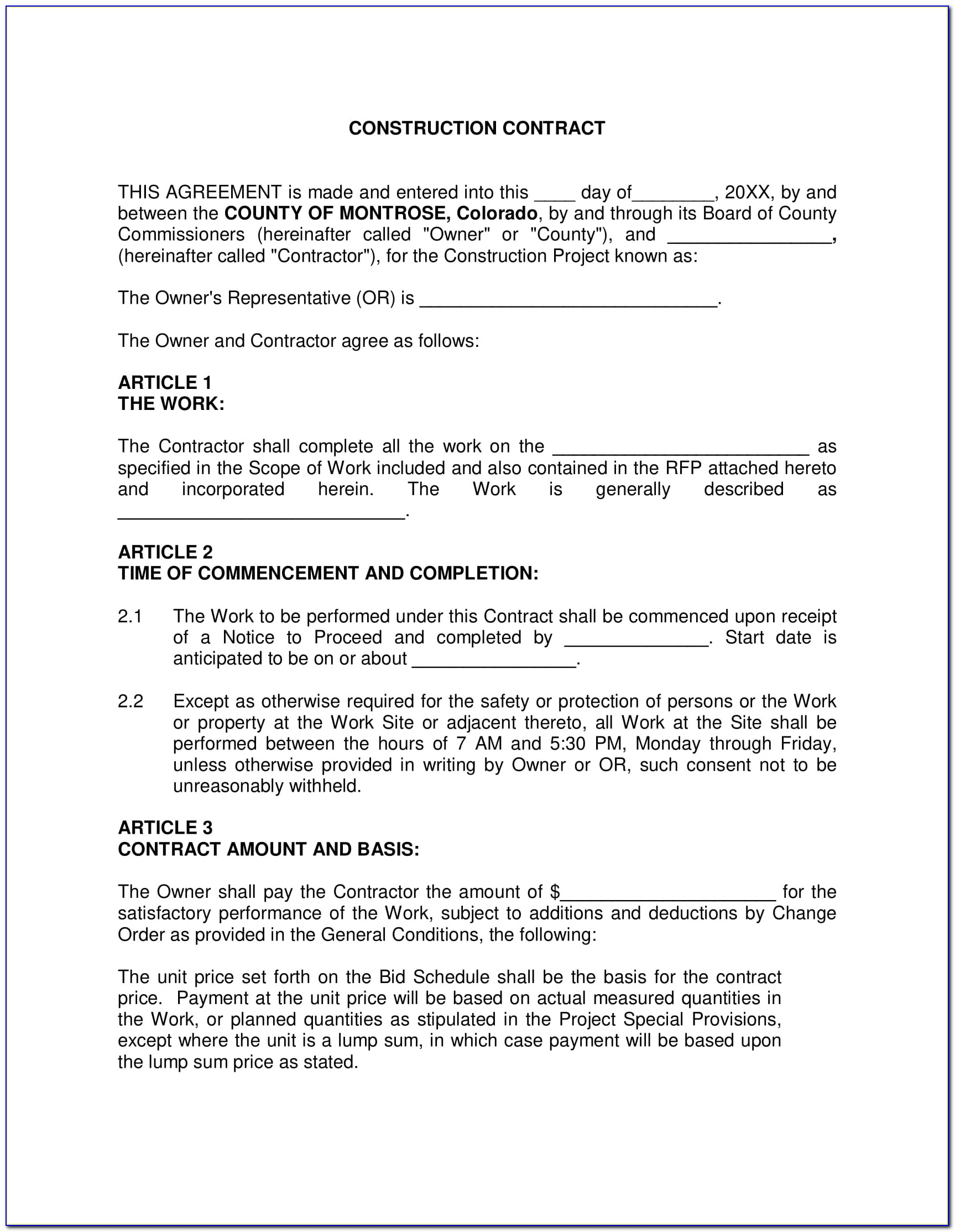 Sample Employment Contract For Construction Workers Philippines