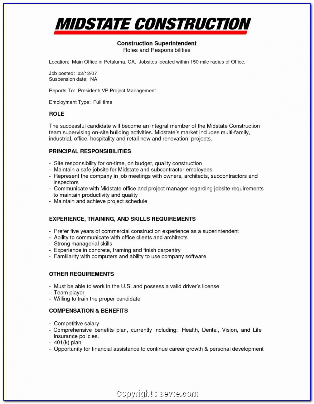 Sample Resume Office Manager Construction Company