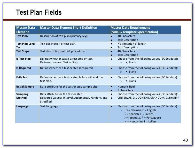 Sap Data Migration Project Plan Template