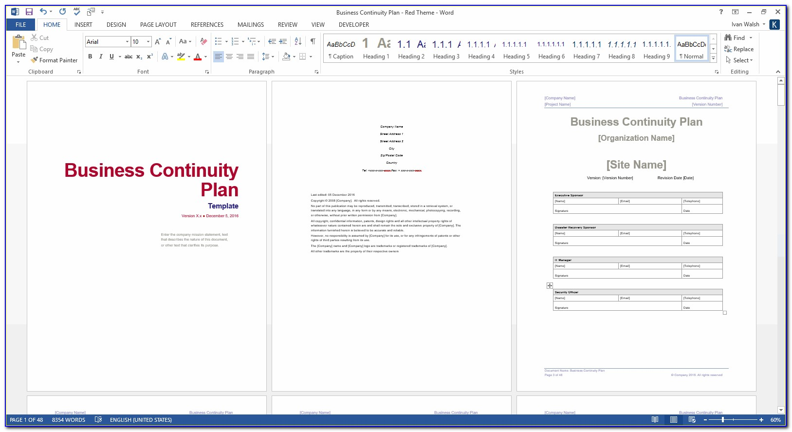 Business Continuity Plan Template Small Business Uk