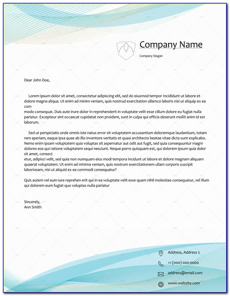 Business Letterhead Format In Word Free Download