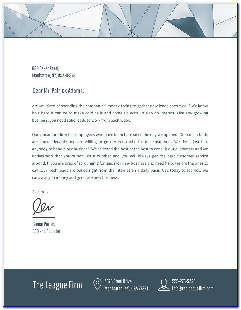 Business Letterhead Template Word 2007