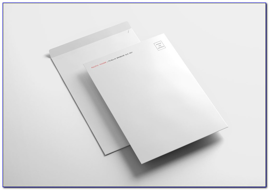 C4 Window Envelope Template