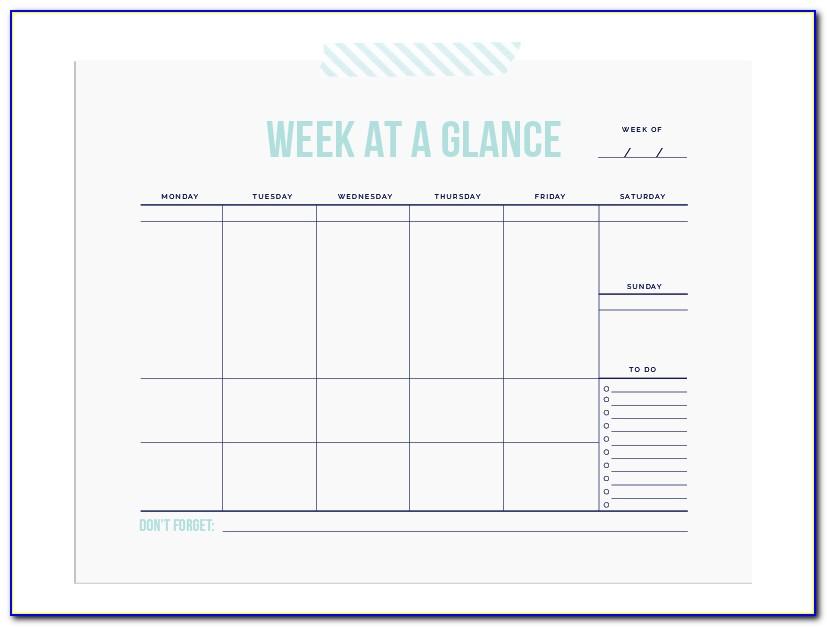 Calendar Schedule Template Monthly
