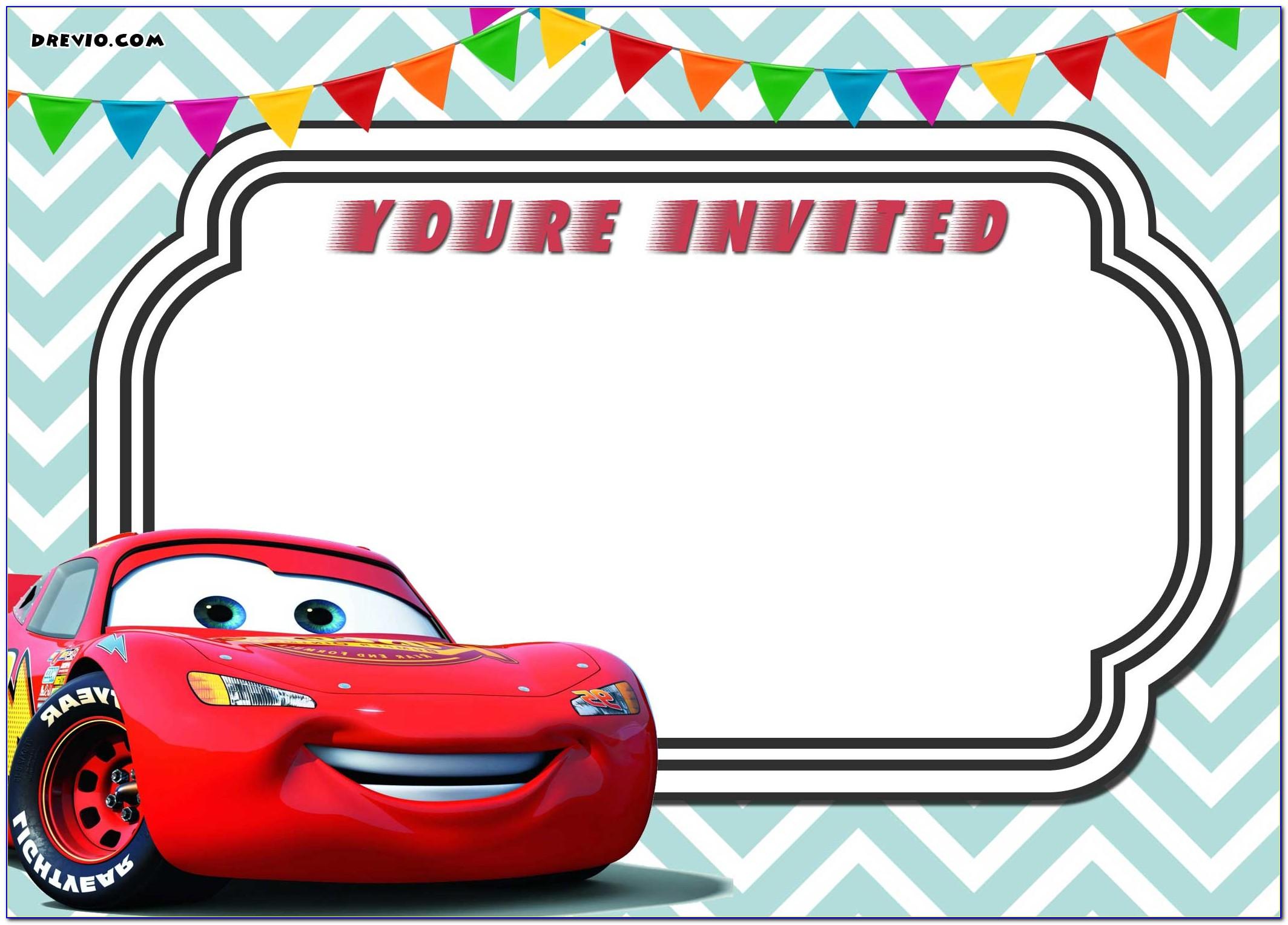 Cars Birthday Invitation Maker