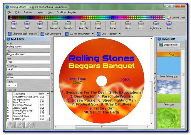 Cd Cover Label Template Free