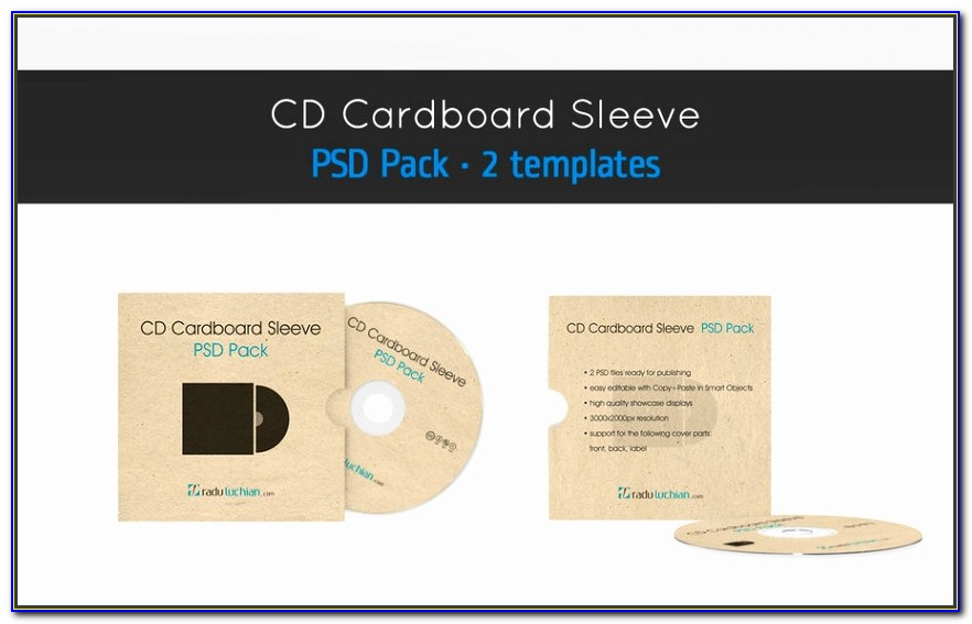 Cd Cover Photoshop Template