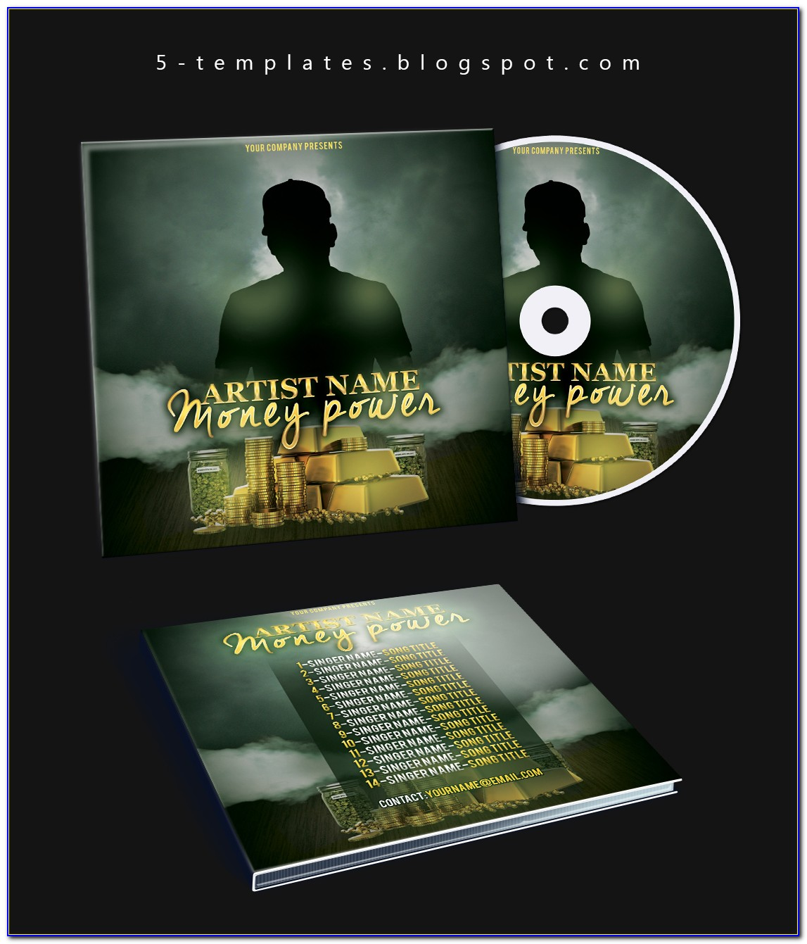 Cd Cover Template For Publisher
