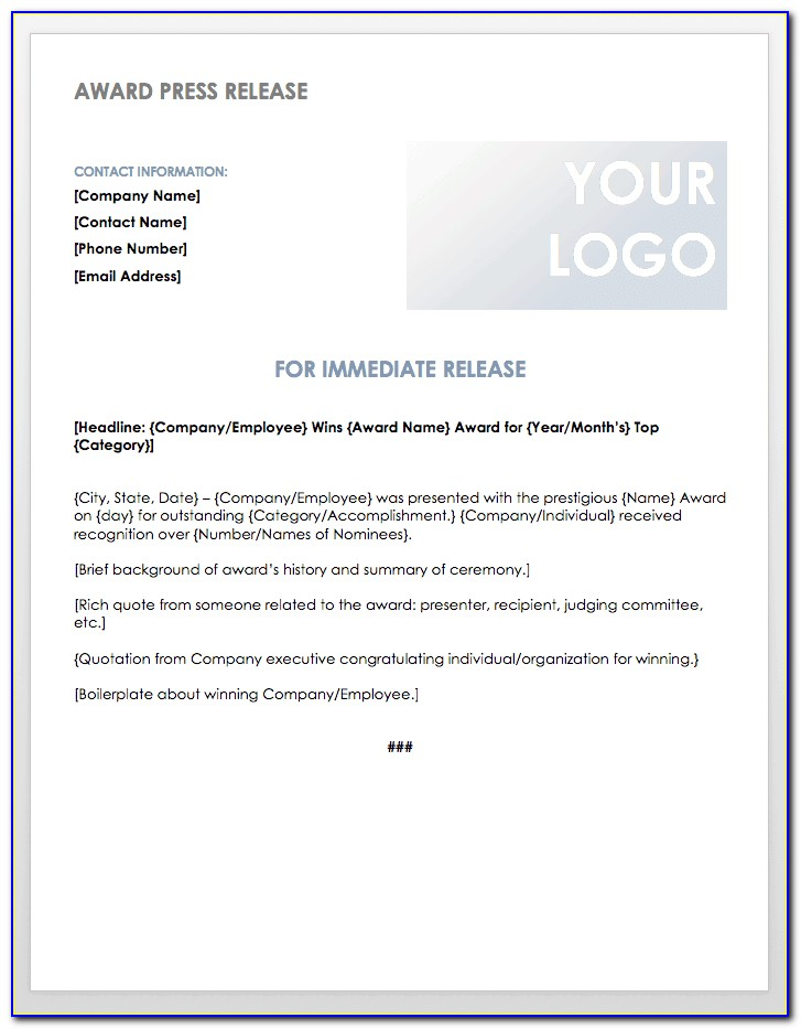 Ceo Announcement Press Release Example