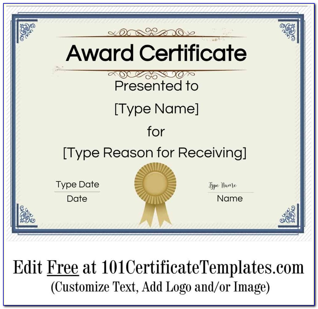 Certificate Award Templates Free Download