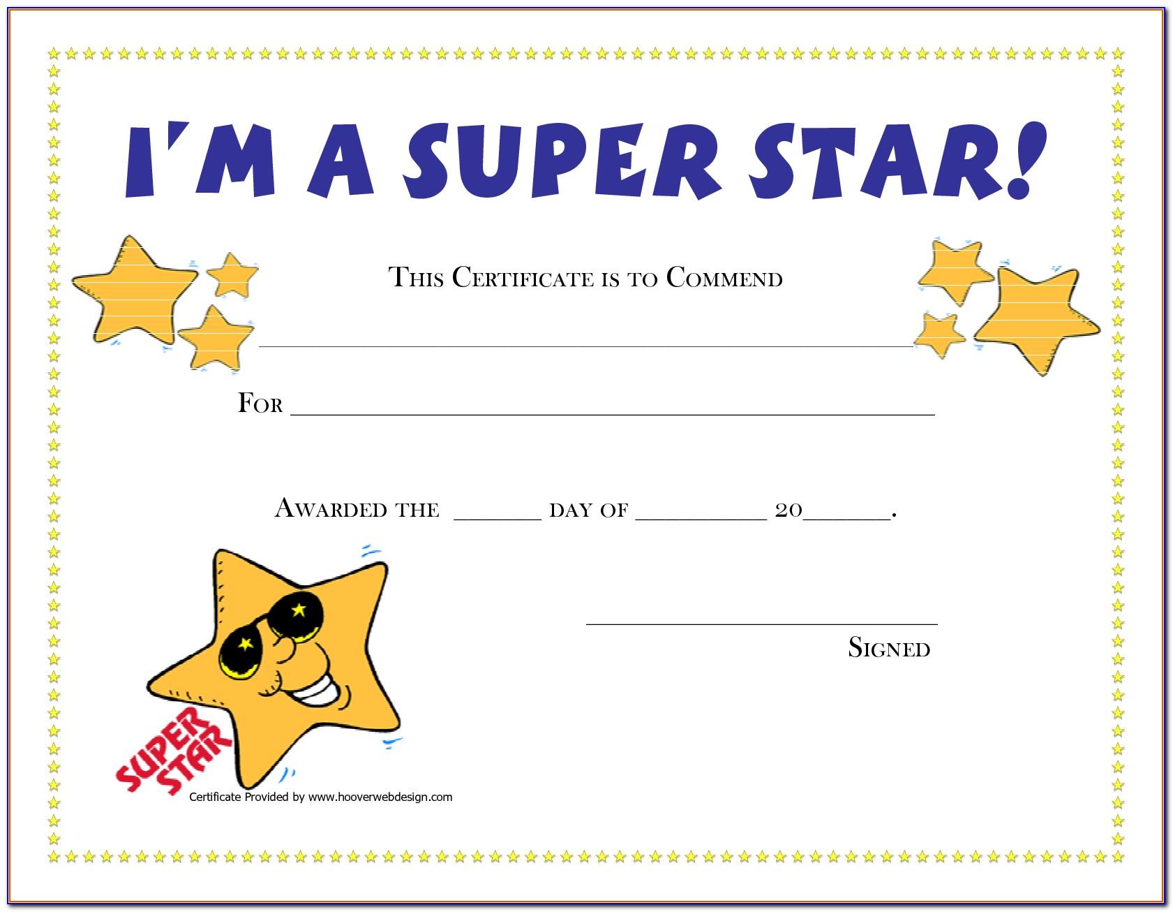 Certificate Of Award Printable