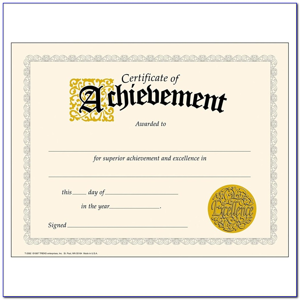 Certificate Of Award Template Powerpoint