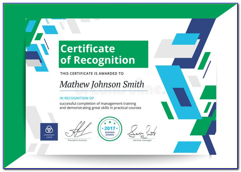 Certificate Of Recognition Template Word Editable
